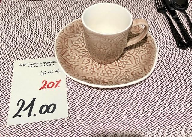 Set Tasse und Teller -20%