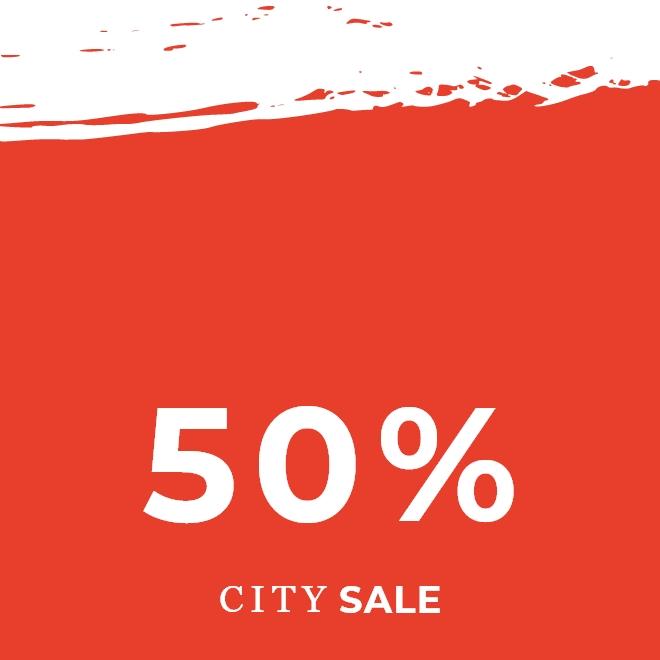 City Sale -50%
