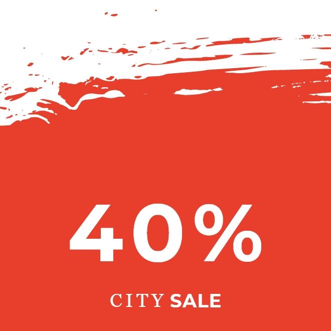 City Sale -40%