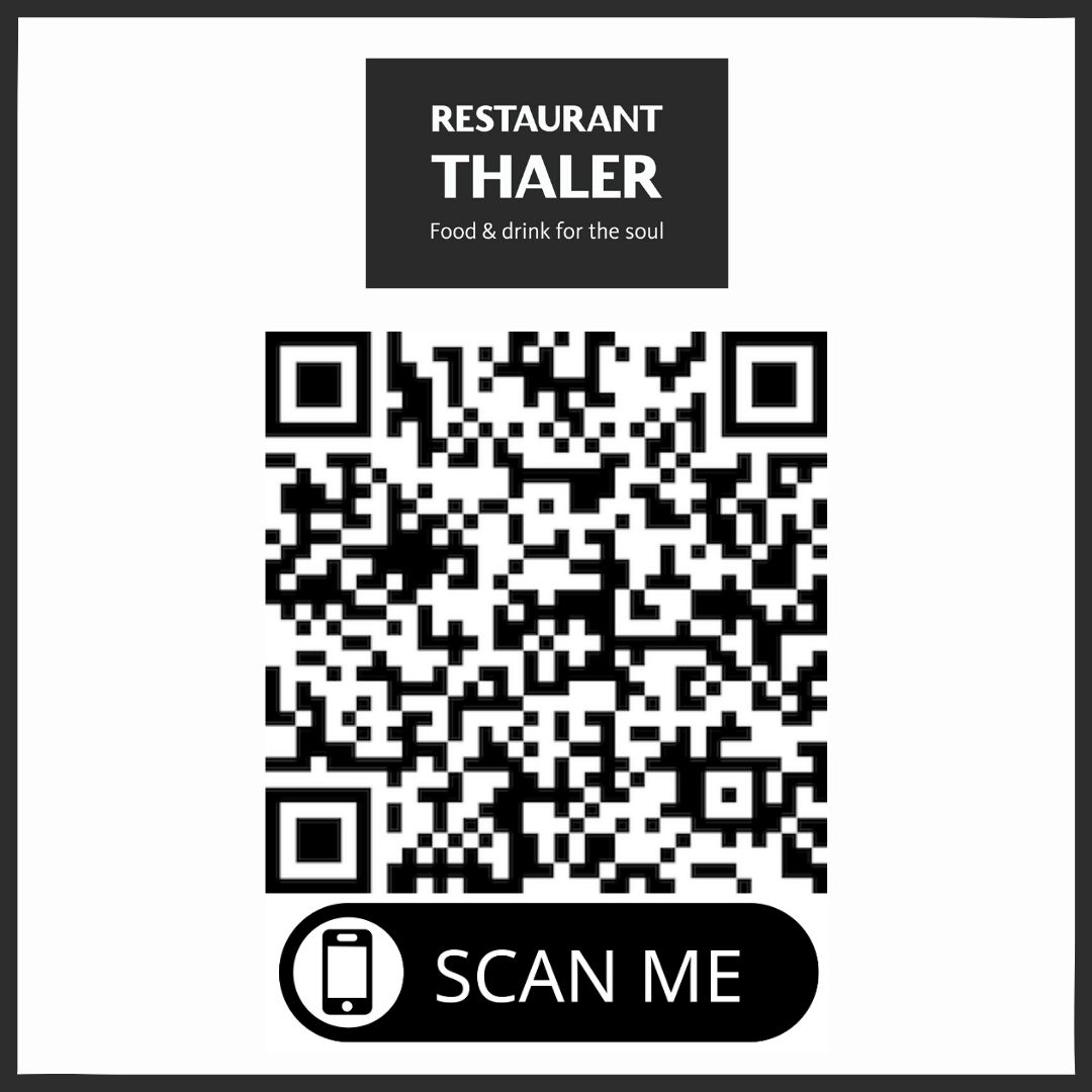 Speisekarte Thaler arôme