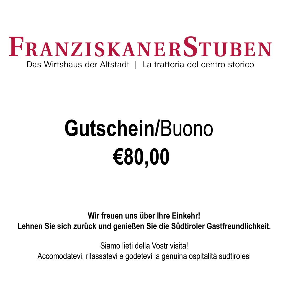 Gutschein 80,00€