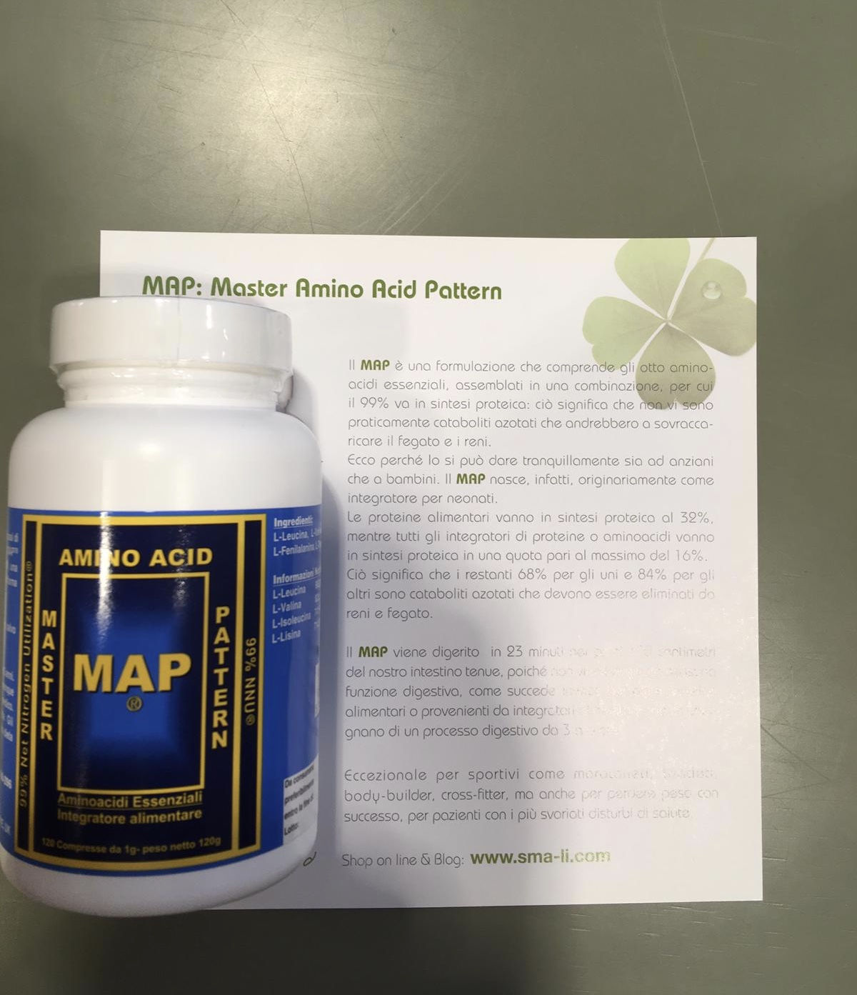 MAP – MASTER AMINO ACID PATTERN